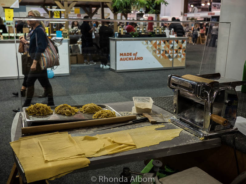 Freshmade pasta at the Auckland Food Show 2016