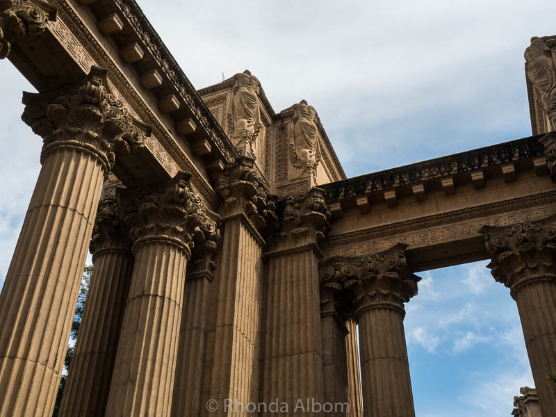 At the Palace of Fine Arts in San Francisco California