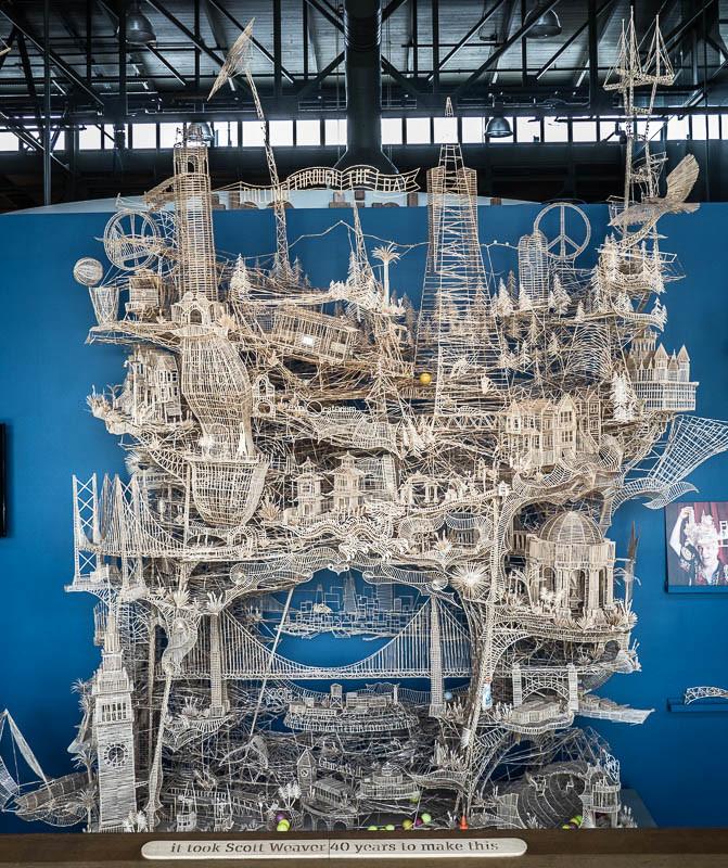 Toothpick exhibit in the Exploratorium in San Francisco Califronia