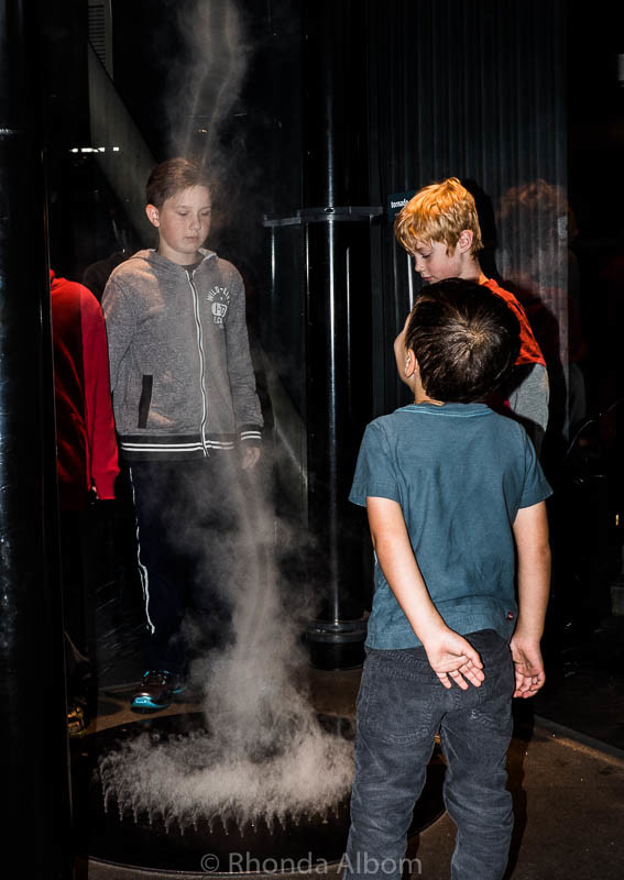 Tornado exhibit at the Exploratorium in San Francisco Califronia