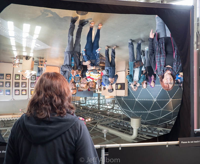 Giant mirror at the Exploratorium