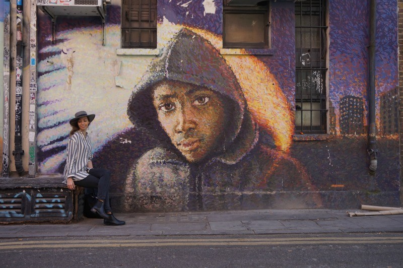 Street art in East London - one example of European street art