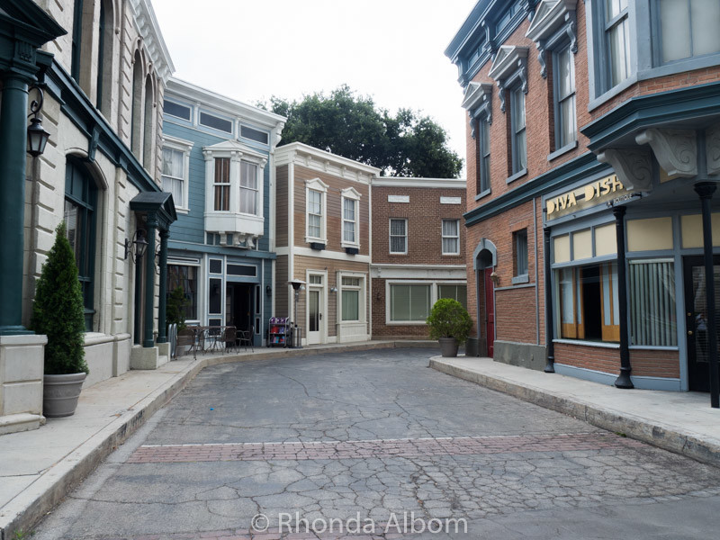 Example of a set using forced perspective on Warner Bros Studio Tour