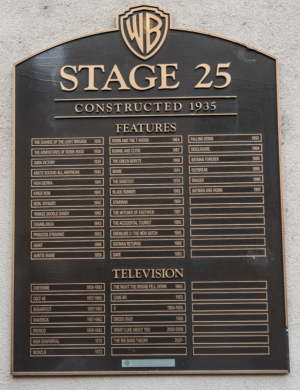 Sound Stage for Big Bang Theory seen on the Warner Bros Studio tour
