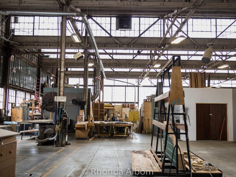 Woodshop at Warner Bros Studio