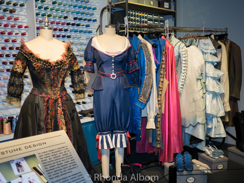 Sample costumes in the museum in Sound Stage 48 now use for the