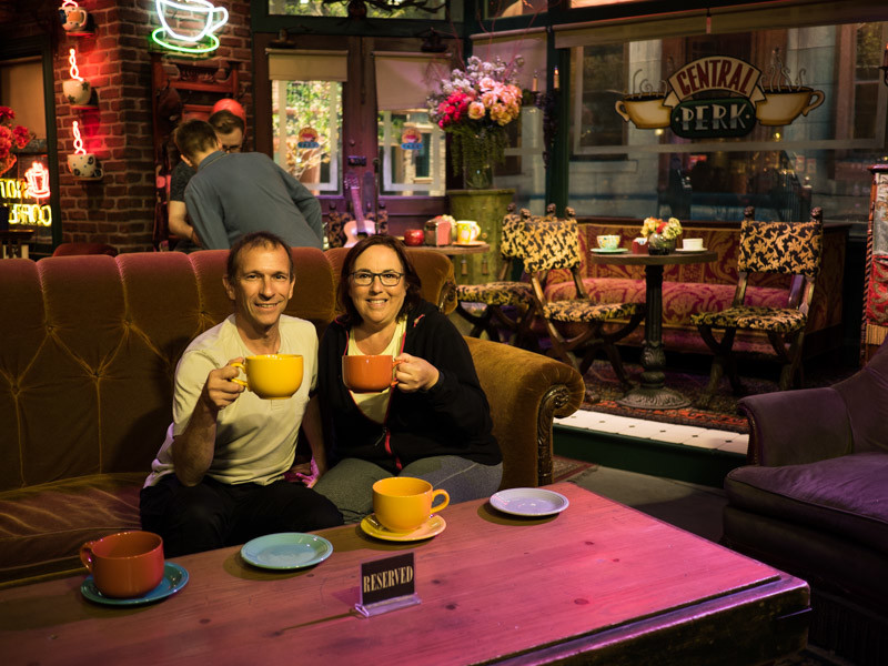 The Central Perk on the set of television show Friends seen at Warner Bros Studio Tour