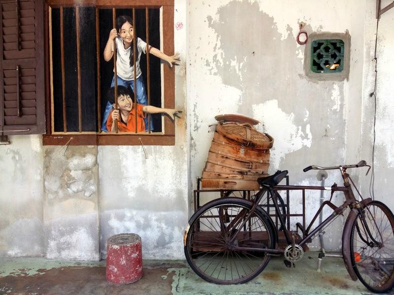 DimSumKids Street Art in Penang Malaysia