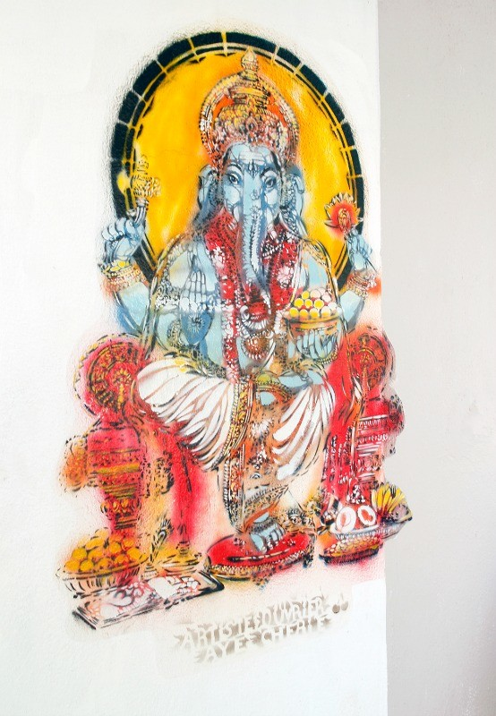 Street Art in India of Ganesh