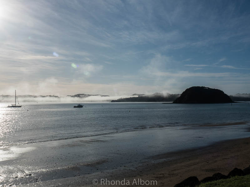 Mist and fog seen in Paihia, Bay of Islands New Zealand