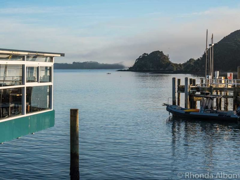 Eating at Zane Grey's Dock Restaurant &  Bar in one of many traditional things to do in Paihia New Zealand