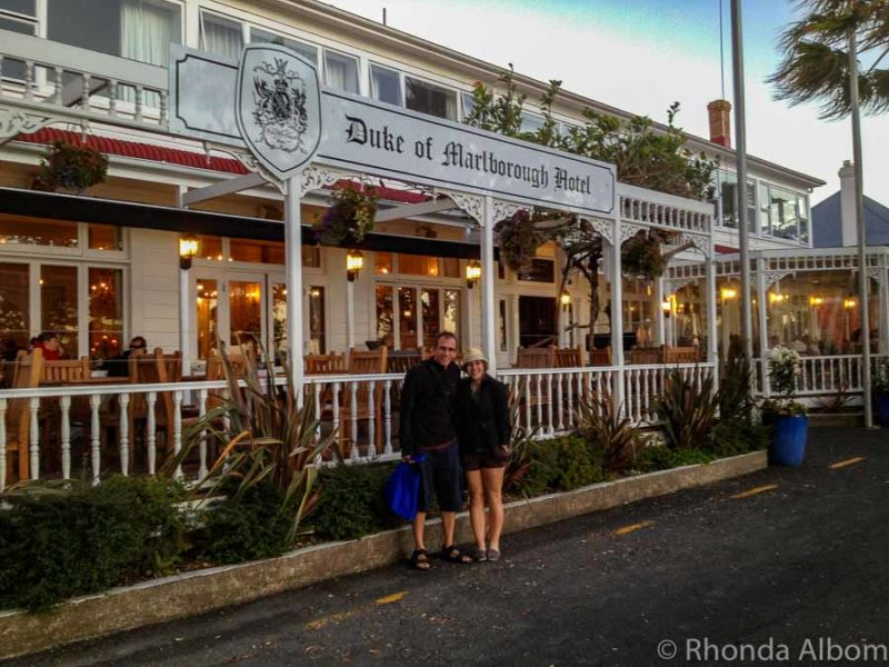 Duke of Marlborough Hotel in Russell Bay of Islands