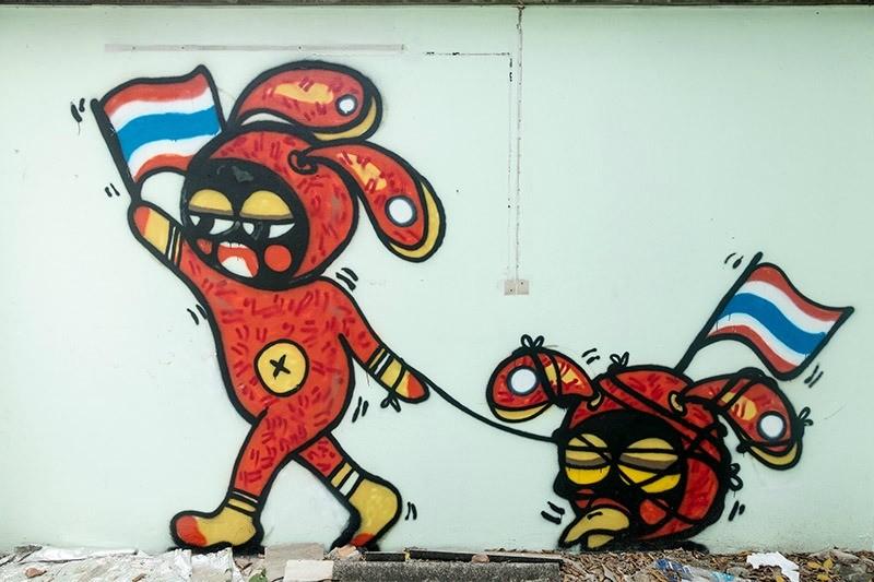 Street Art in Chiang Mai Thailand