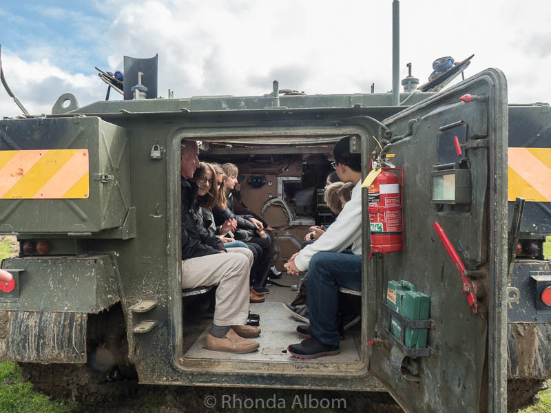 Boarding a military vehicle at the MOTAT Live Day in Auckland New Zealand