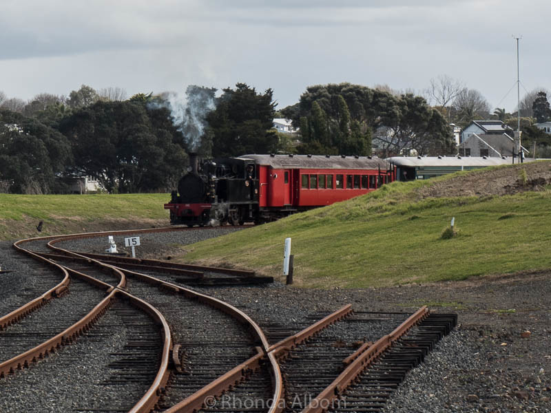 Steam train rides at the MOTAT Live Day in Auckland New Zealand