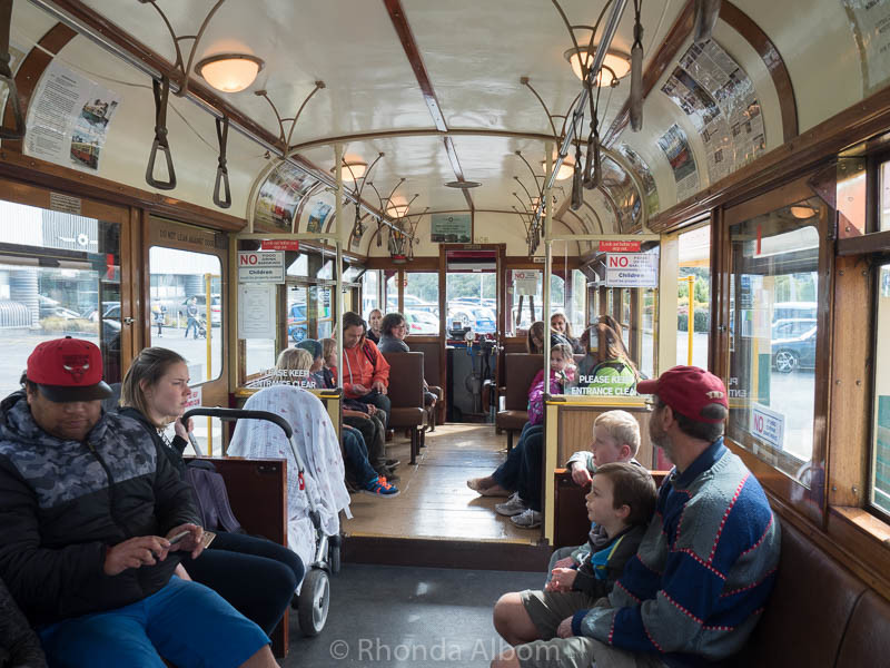 On a steam train at the MOTAT Live Day in Auckland New Zealand