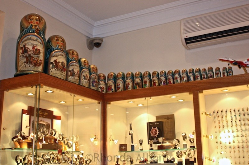 Large set of Matryoshka dolls in Moscow