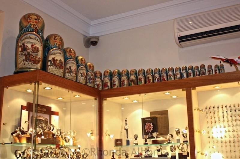 Large set of Matryoshka dolls in Moscow
