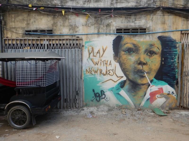 Street art in Phnom Penh, Cambodia