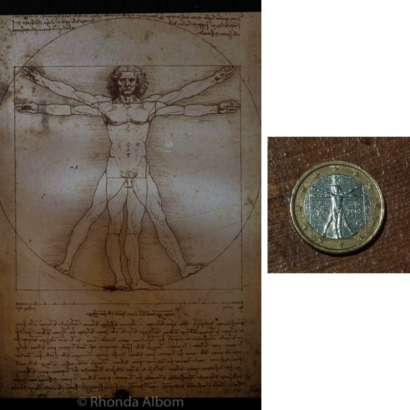 The Vitruvian Man artwork by Leonardo da Vinci