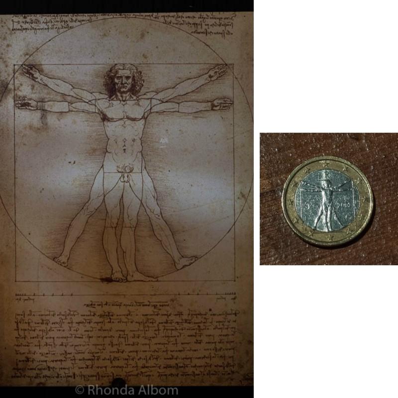 The Vitruvian Man artwork by Leonardo da Vinci