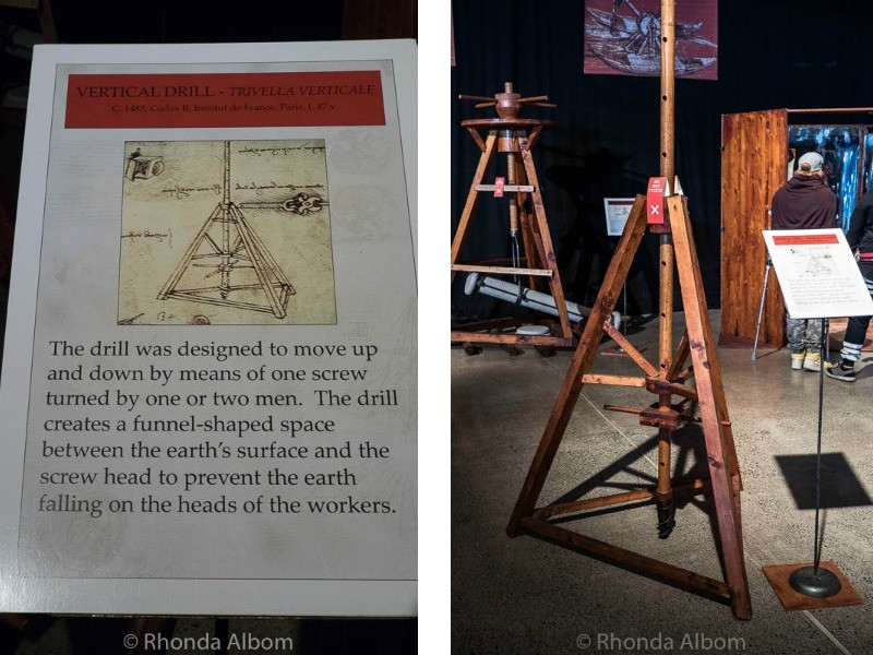 Vertical Drill by Leonardo da Vinci at MOTAT in Auckland New Zealand