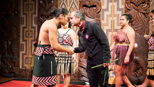 A hongi shared at the Waitangi Treaty Grounds in New Zealand.