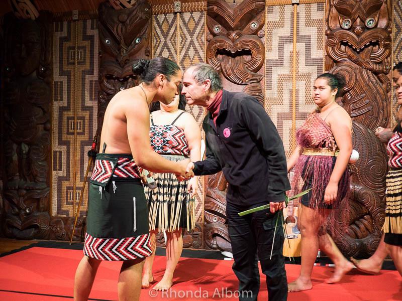 A hongi shared at the Waitangi Treaty Grounds in New Zealand.