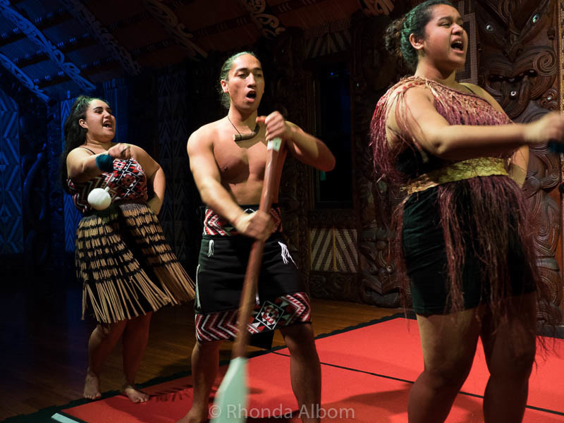 Maori cultural performance in New Zealand.