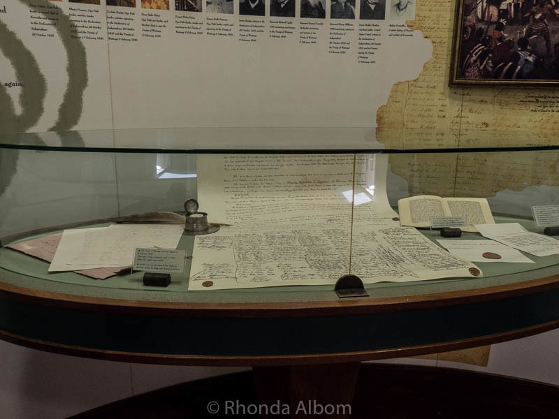 Copy of the Treaty of Waitangi in