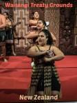 Maori cultural performance at the Waitangi Treaty Grounds in New Zealand.