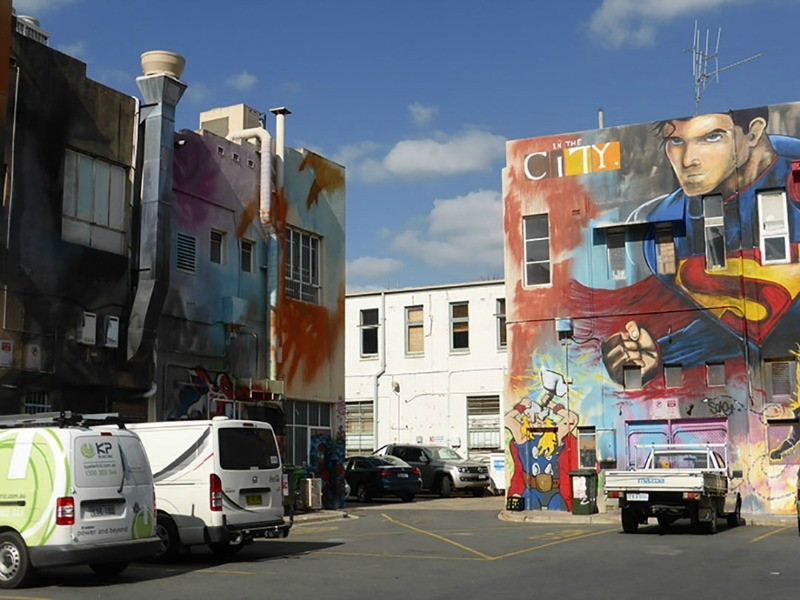 Street art in Canberra Australia by Paula McInerney of Contented Traveller