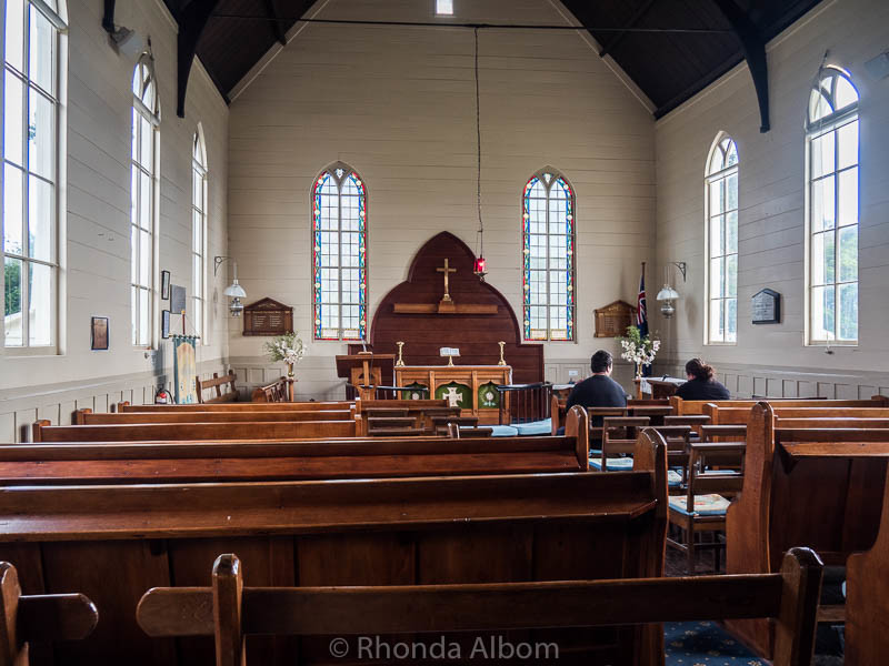 Interior of New Zealand's Oldest Church located in Russell