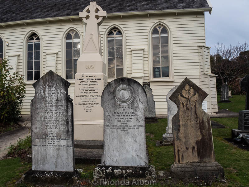 Cemetery of New Zealand's Oldest Church located in Russell