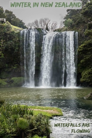 This is one of many incredible New Zealand North Island Waterfalls in the winter