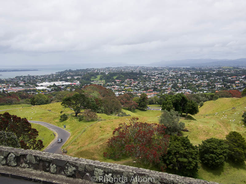 View from the summit of One Tree Hill in Auckland New Zealand