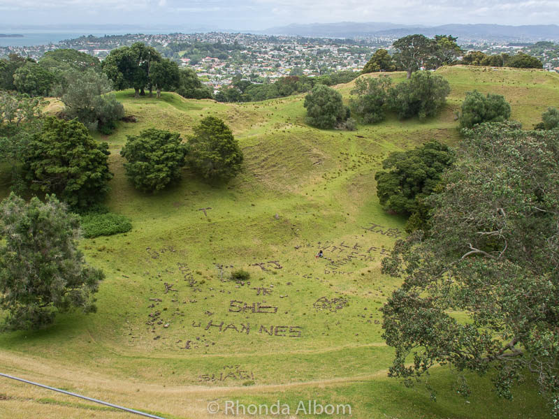 Summit of Cornwall Park in Auckland New Zealand