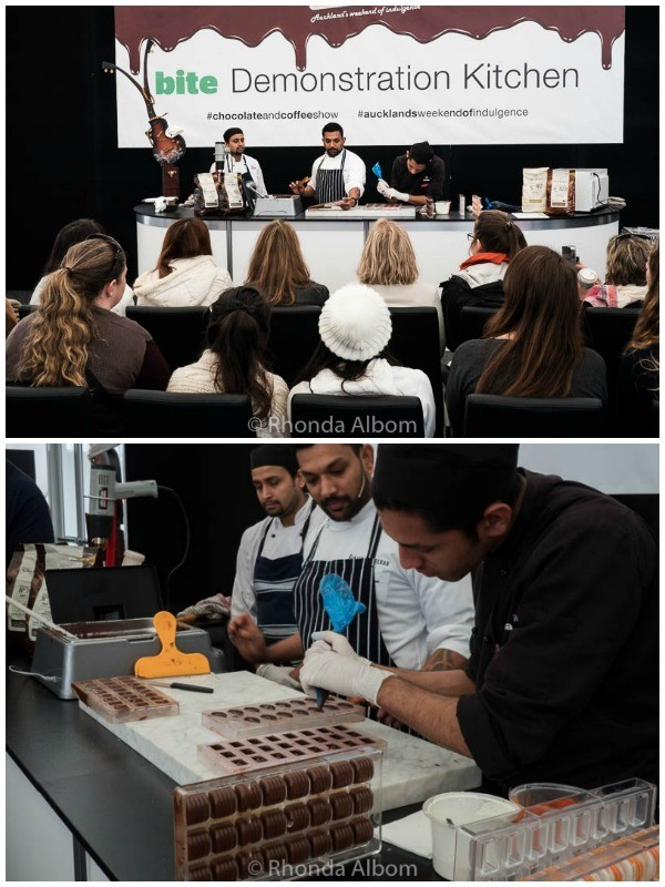 Demonstration Kitchen at The Chocolate and Coffee Show in Auckland New Zealand
