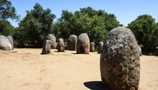 Almendres Cromlech is one of the megalithic sites in Evora Portugal