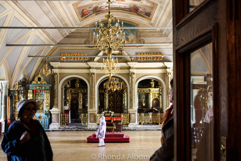 Interior of one the buildings at Novodevichy Convent in Moscow Russia