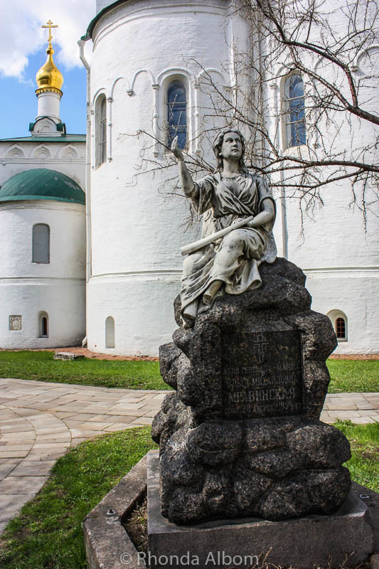 Angel statue at Novodevichy Convent in Moscow Russia