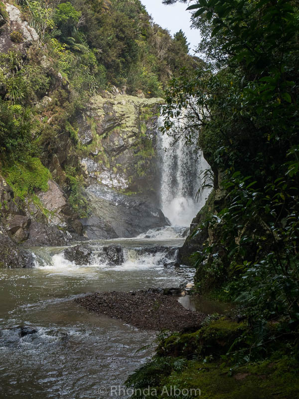 Piroa Falls north of the Brynderwyns in Waipu on the North Island of New Zealand