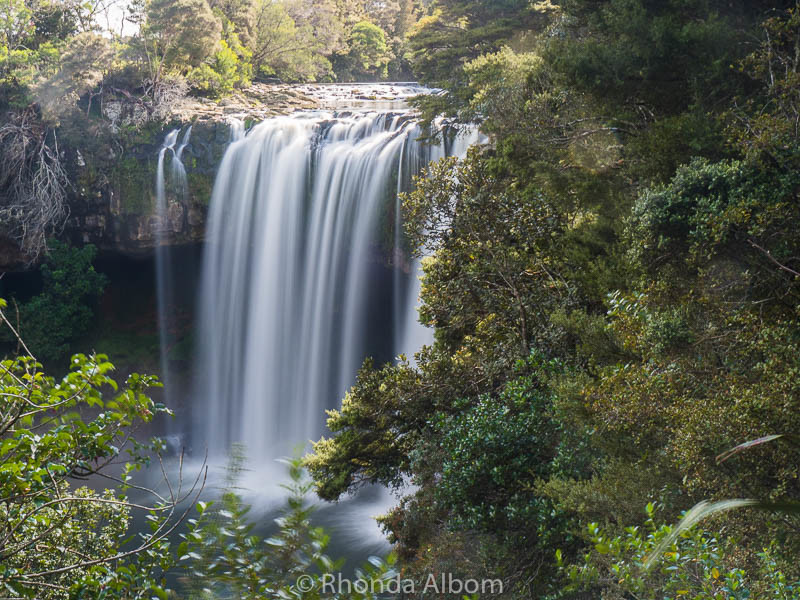 Rainbow Falls during the winter month. Located in Kerikeri New Zealand