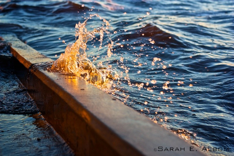 Water lapping against a boat ramp, Santa Fe City, Santa Fe, Argentina. Photo copyright ©Sarah Albom 2016