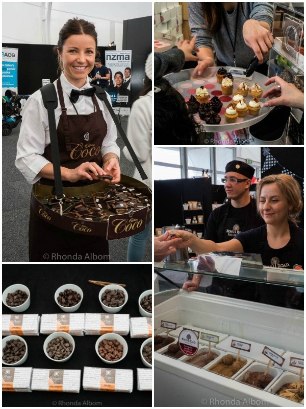 Samples at Chocolate and Coffee Show in Auckland New Zealand