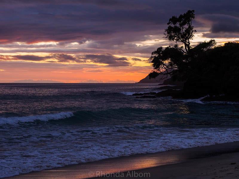 Stormy sunset in Waipu Cove, New Zealand