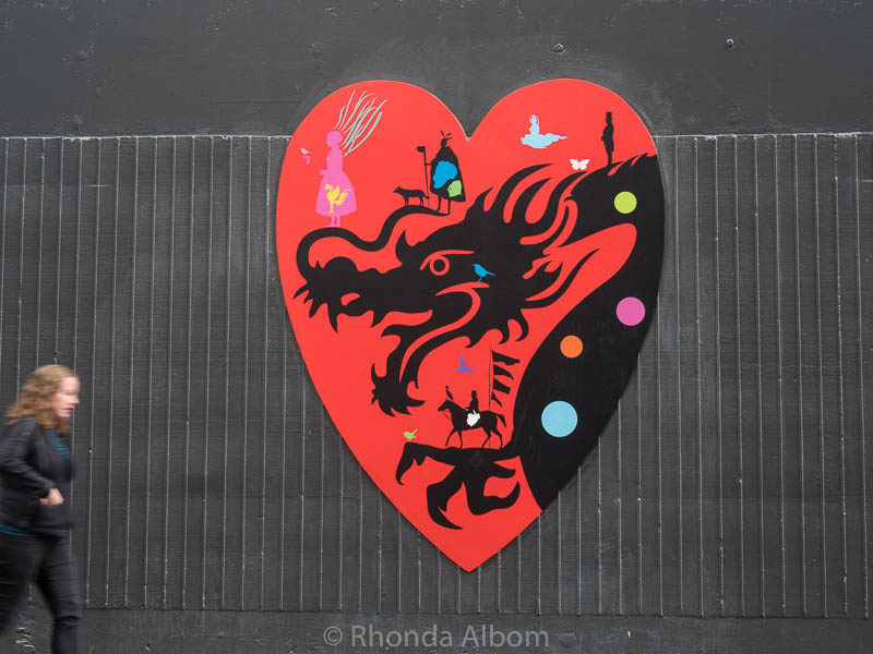 This Dragon by Chris Heaphy is one of the Heart of the City Hearts in Auckland New Zealand