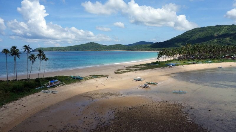 Marimegmeg Beach, Palawan, The Philippines.