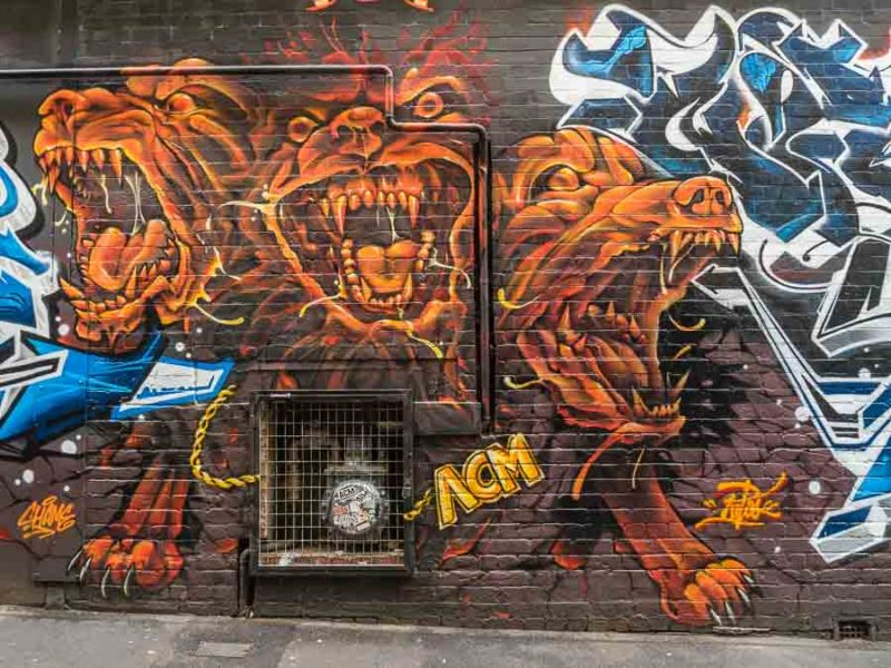 Street Art on Drewery Lane in Melbourne Australia
