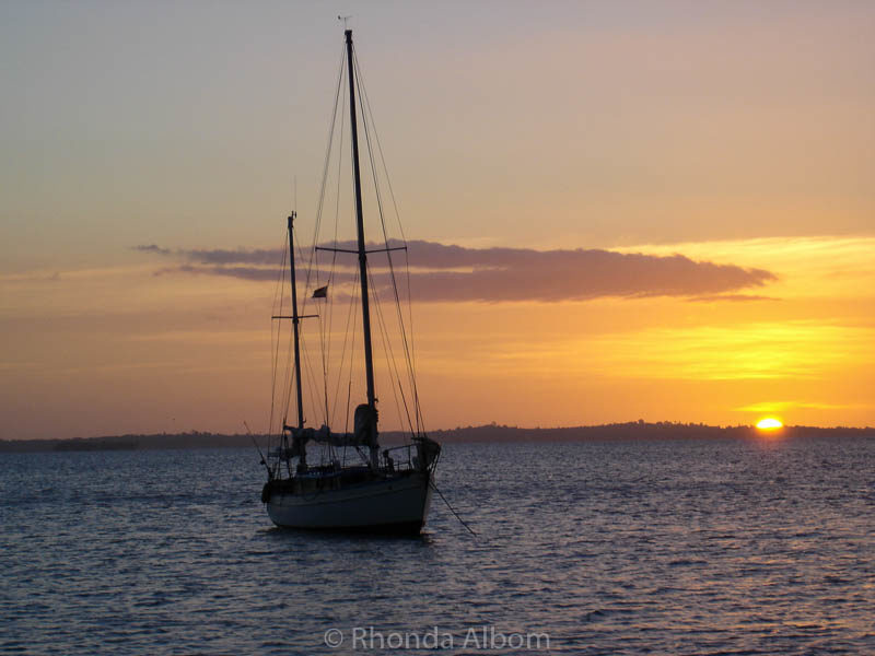 Sunset at Rocky Bay, Waiheke Island, New Zealand